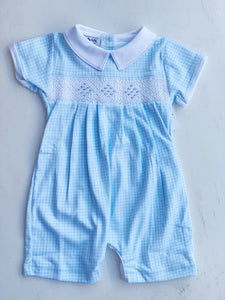 Mia and Ollies Classics Smocked Romper