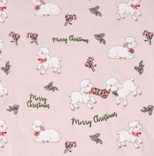 Load image into Gallery viewer, Sweet Dreams Pajamas- Christmas Lambs- light pink