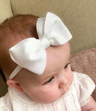 Load image into Gallery viewer, Evas House Big Grosgrain Bow on a Soft Headband