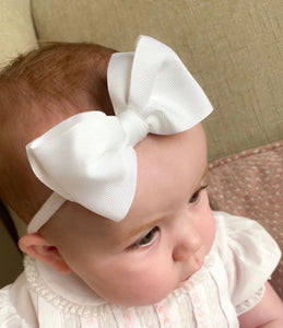 Evas House Big Grosgrain Bow on a Soft Headband