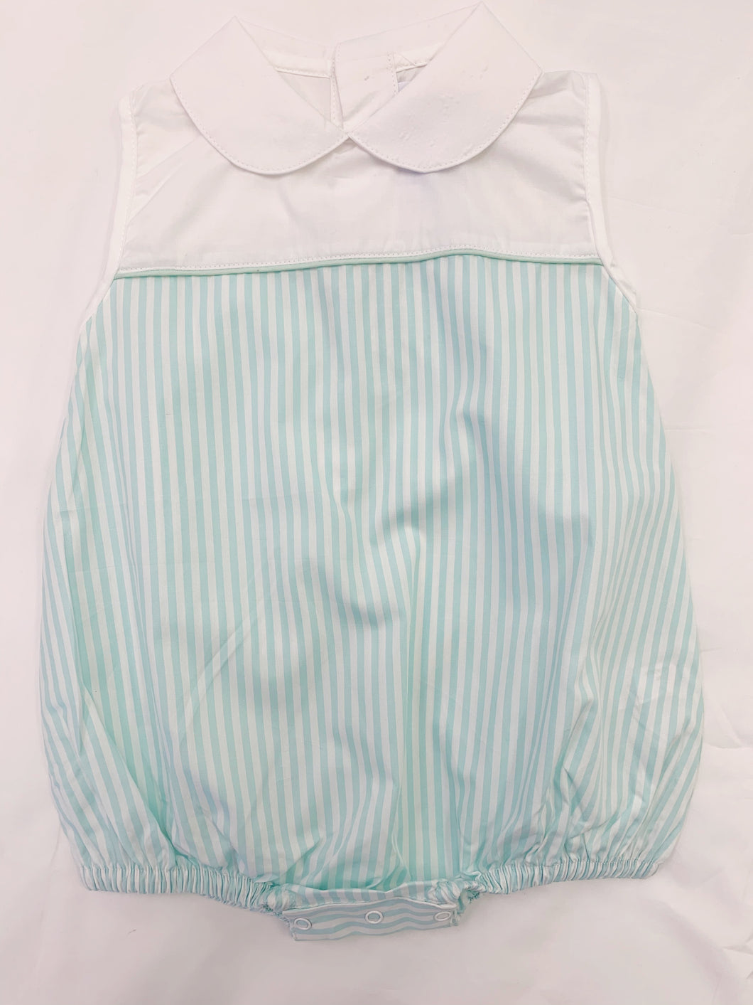 Jetson Cubbington Mint Stripe Poplin Bubble