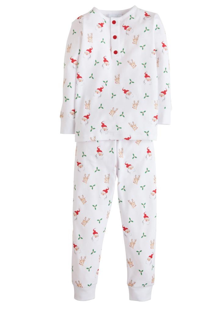 Little English Jammies- Santa & Reindeer- Boy (18m)