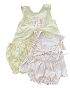 Lottie Bloomer Set- pink dot