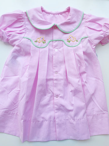 Baby Sen Pink Little Chicks Dress