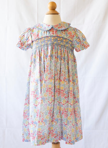 Peggy Green Churchill Smocked Day Dress