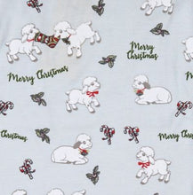 Load image into Gallery viewer, Sweet Dreams Christmas Lamb Footie Pajama- light blue