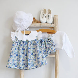 Pukatuka Blue Liberty Floral Bloomer Set