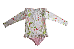 Strawberry Rash Guard Set