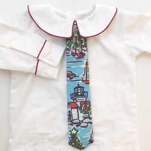 Maddie and Connor Seaside Holiday Boys Collared Shirt