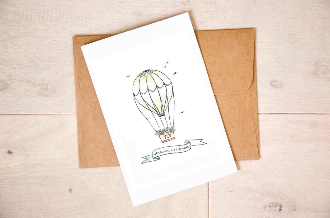 Paper Gems Card- hot air balloon