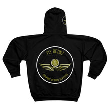 Load image into Gallery viewer, Fly DeZinZ - AOP Unisex Zip Hoodie
