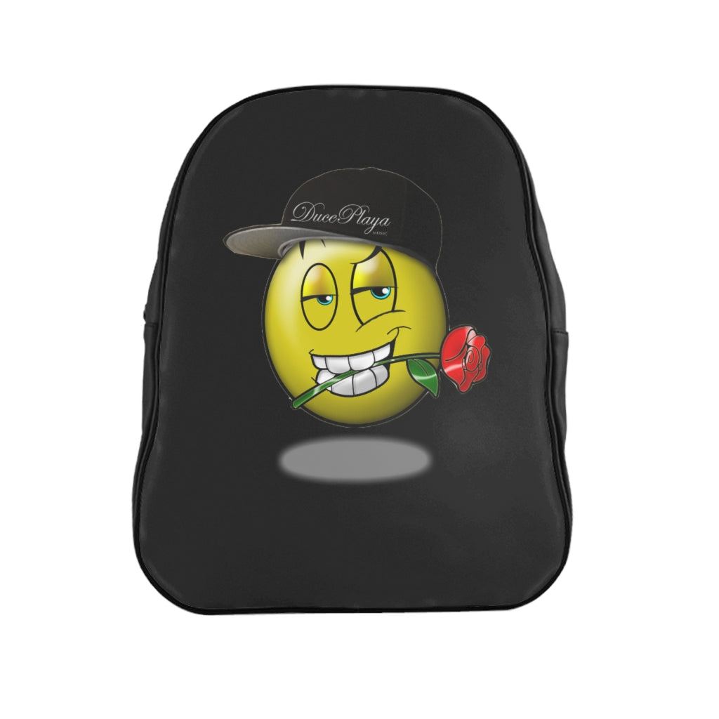 DucePlaya Smile Emoji - School Backpack