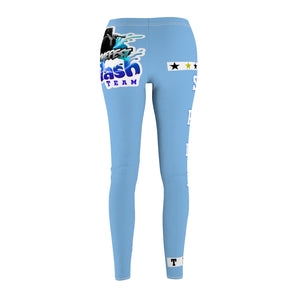 AK RhymeFest  Splash Team - Sky Blue 4 - Women's Cut & Sew Casual Leggings