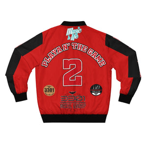 "DucePlaya ""PLAYA N' THE GAME"" - Men's AOP Bomber Jacket"