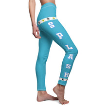 Load image into Gallery viewer, AK RhymeFest  Splash Team - Turquoise 3 - Women's Cut & Sew Casual Leggings