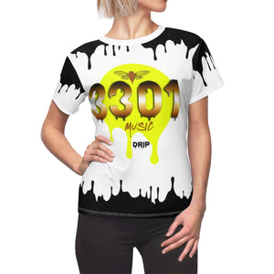 "Women's ""3301 Music Group Drip"" - AOP Cut & Sew Tee"