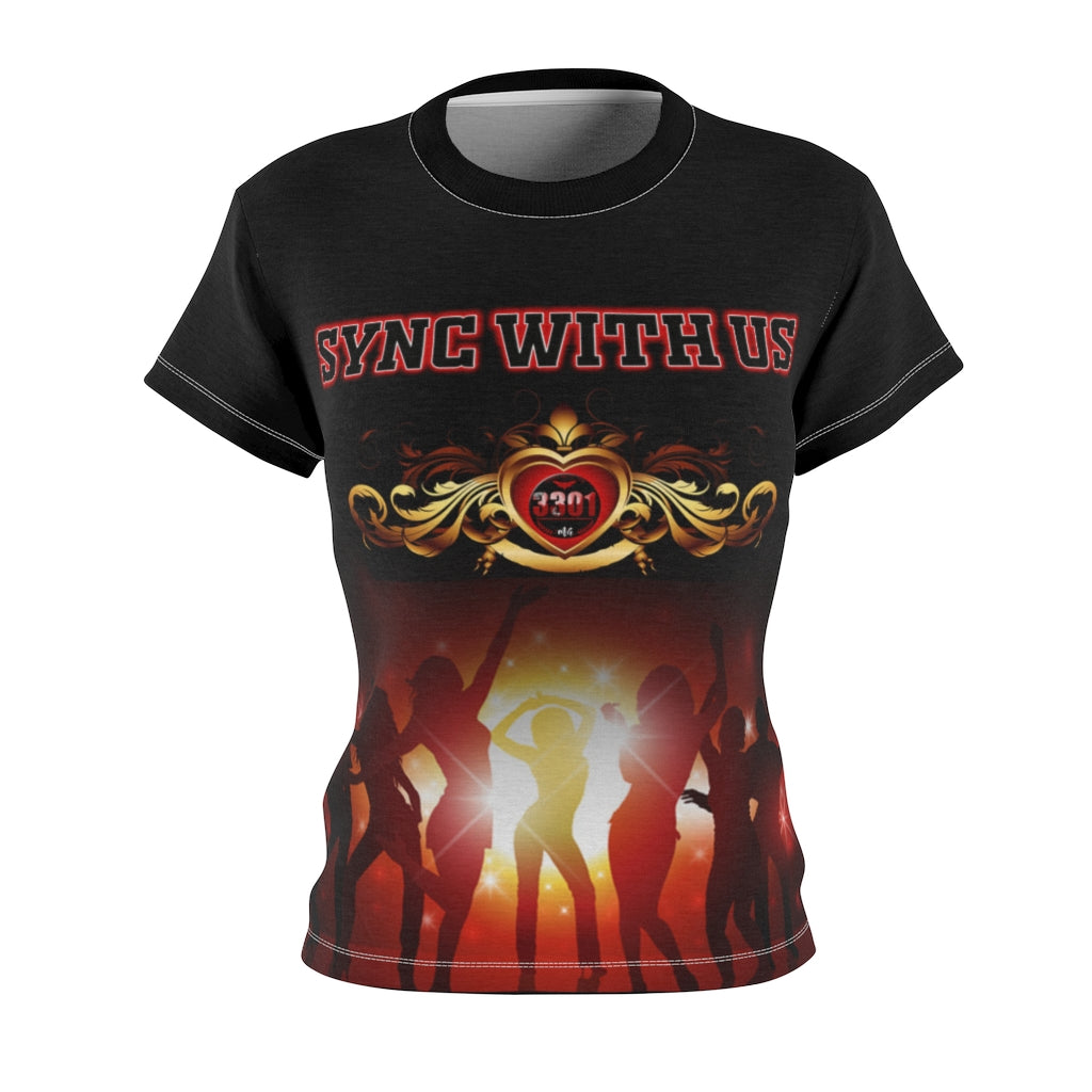 Women's  - SYNC WITH US - AOP Cut & Sew Tee