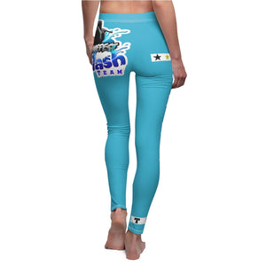 AK RhymeFest  Splash Team - Turquoise 3 - Women's Cut & Sew Casual Leggings