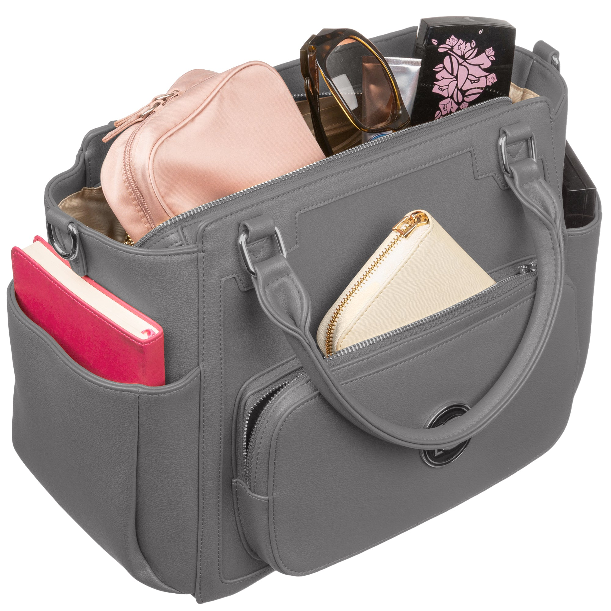 Big Sweety Women's Gray Diaper Bag - bigsweety