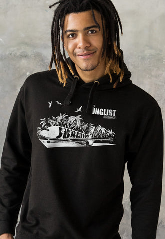 Fly Junglist Airlines Hoodie. Hooded Top.