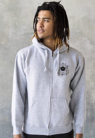 Junglist Coat Of Arms Logo Zip Up Hoodie . Hooded Top.