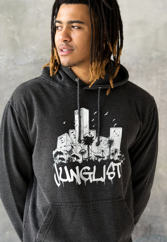 Junglist Sound System. Washed Effect Hoodie