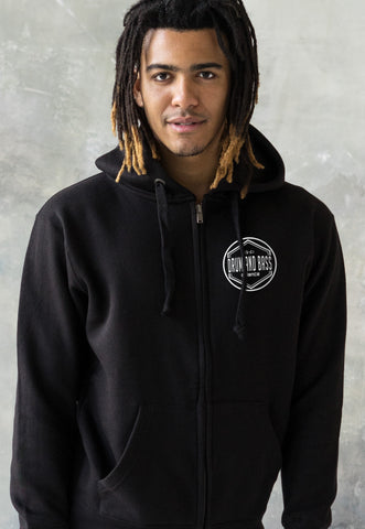 Drum and Bass Alliance Logo Zip Up Hoodie . Hooded Top.