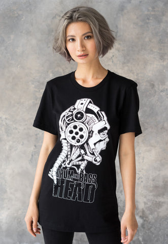 Cyborg Drum and Bass Head Women's T Shirt