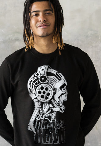 Drum and Bass Head Sweatshirt Jumper