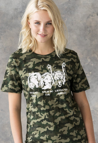 Listen To Jungle Camouflage Women's T Shirt