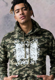 Junglist Lion DJ Camo Hooded Top