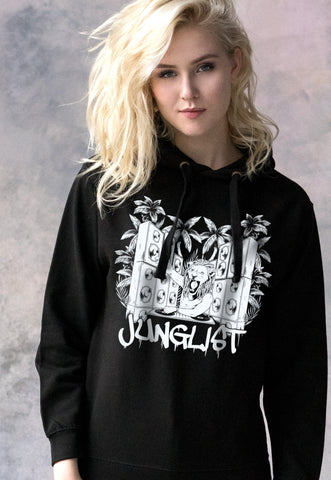 Junglist Lion DJ. Hooded Top.