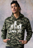 Junglist Sound System Camo Hooded Top