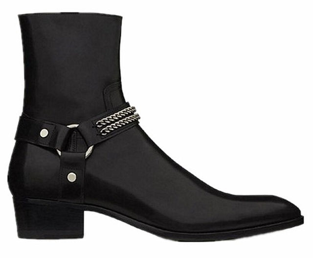 habazoo - 2019 Hot Sales FR.LANCELOT Genuine Leather Cow Leather Men Boots high top Zipper fashion british style fashion men Chelsea Boots - Habazoo -
