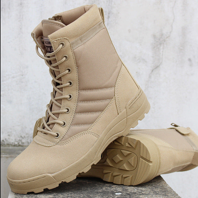 habazoo - Army Boot  Men Desert Tactical Military Boots Mens Work Safty Shoes - Habazoo -