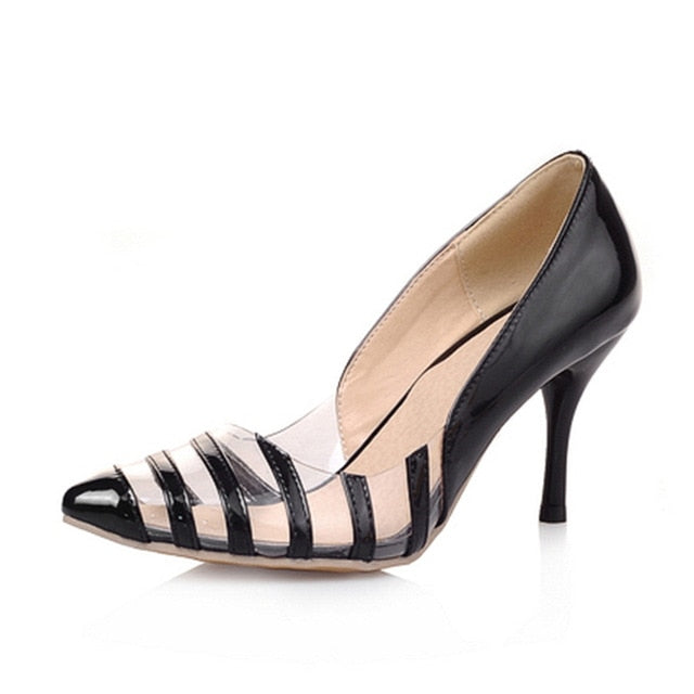 habazoo - sexy women high heels pumps dropship transparant office lady shoes woman - Habazoo -