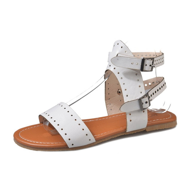 habazoo - Beach Sandals Fashion Ladies Woman Shoes New Summer Gladiator Roman Shoes Flat Thong Sandals Footwear Plus Size 35-43 - Habazoo -