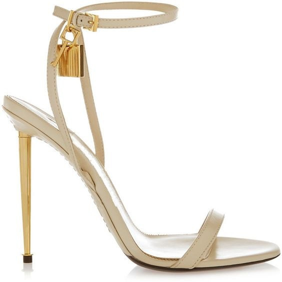 habazoo - Sexy Strap High Heels Women Sandals Open Toe Metal Heels Women Shoes Rome Style Ankle Strap Gold Padlock Women Pumps - Habazoo -
