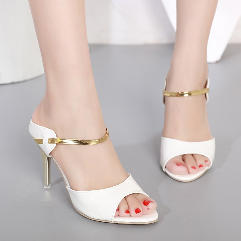 habazoo - Fashion Designer Women Sandals Open Toe Wedge Shoes Beautiful High Heels Sandals Summer Women Shoes Gold Silver Ladies Sandalias - Habazoo -