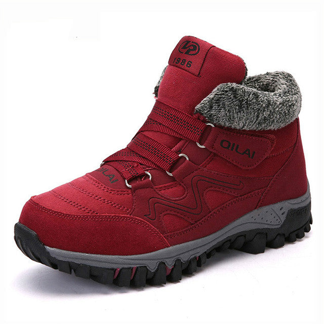 habazoo - Outdoor Warm Snow Boots Waterproof Warm Plush Boots Women Casual Shoes Winter Ankle Boots - Habazoo -