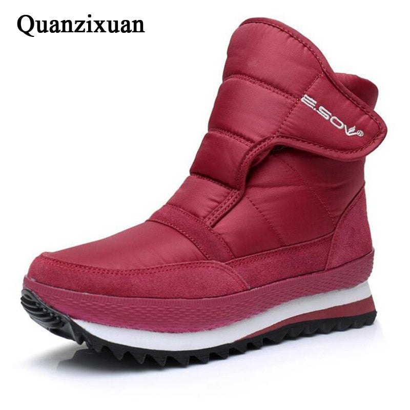 habazoo - Women Flat Non-slip Winter Shoes Women Plush Waterproof Ankle Boots Women  Boots Plus Size 35-45 - Habazoo -