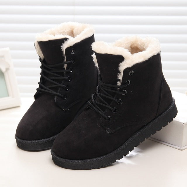 habazoo - Fashion Women Snow Boot  Shoes Women Winter Boots Warm Fur Ankle Boots For Women - Habazoo -