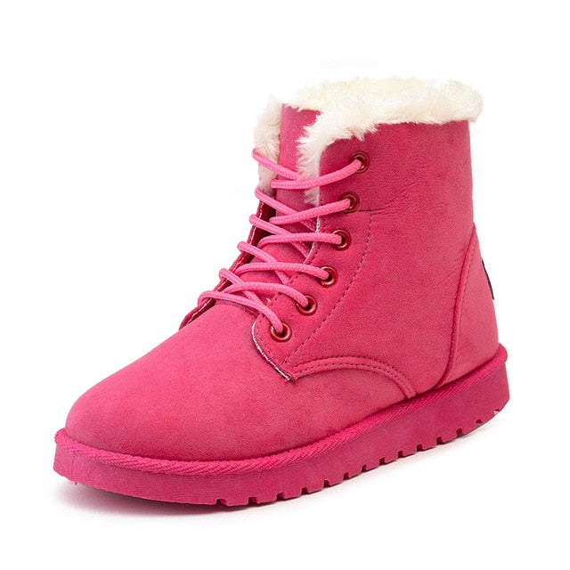 habazoo - Women Boots Plus Size 41 Winter Boots Female Ankle Boots For Women Plush Boots Cotton Shoes Women - Habazoo -