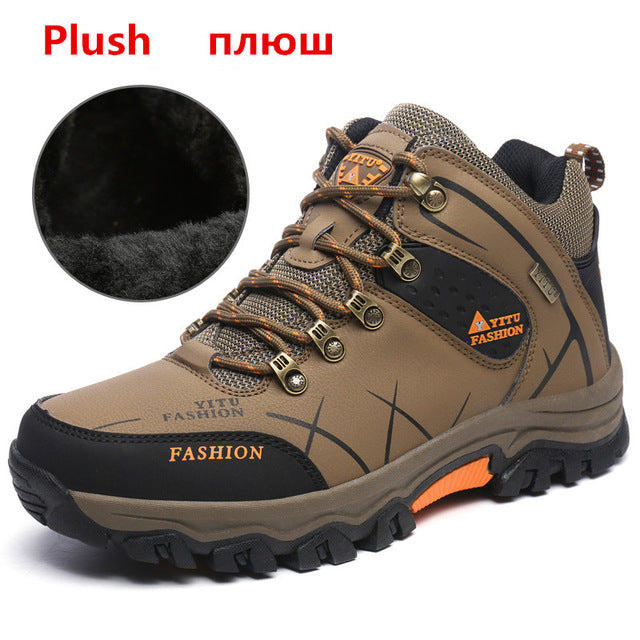 habazoo - Men Boots Winter With Plush Warm Snow Boots Casual Men Winter Boots Work Shoes Men Footwear Fashion Ankle Boots 39-47 - Habazoo -