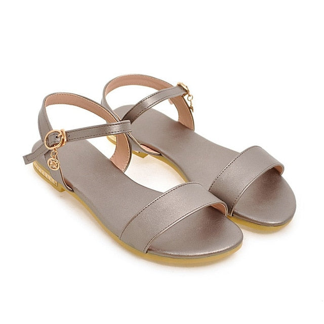 habazoo - Summer Sandals Flat Sandals Open Toe Buckle Causal Ladies Shoes Fashion Women Flats - Habazoo -