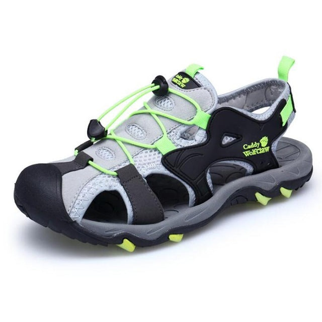 sandals high quality summer casual sandals men cover toe flat beach shoes for the seaside size 37 - 44 - Habazoo