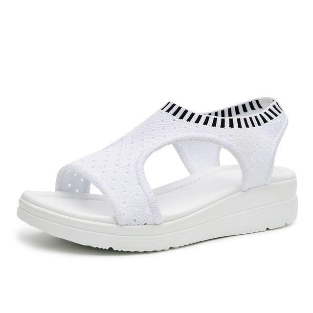 habazoo - women sandals summer platform sandal shoes breathable comfort shoes ladies walking shoes white black - Habazoo -
