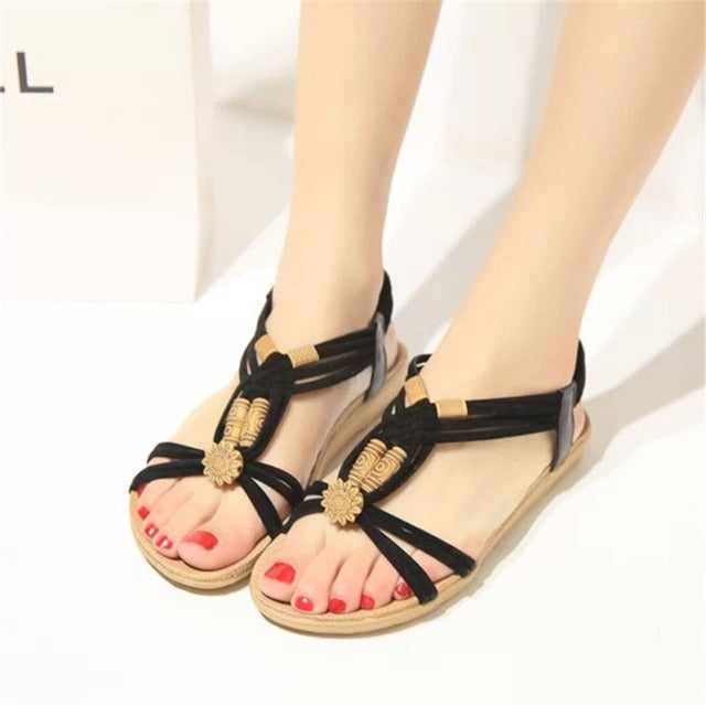 habazoo - New Women Sandals Fashion Summer Women Shoes  Bohemia Gladiator Beach Flat Casual Sandals Leisure Female Ladies  Sandals Women - Habazoo -