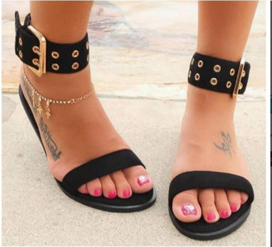 New Women Sandals Transparent Flat Summer Gladiator Open Toe Clear Jelly Shoes Ladies Roman Beach Sandals - Habazoo