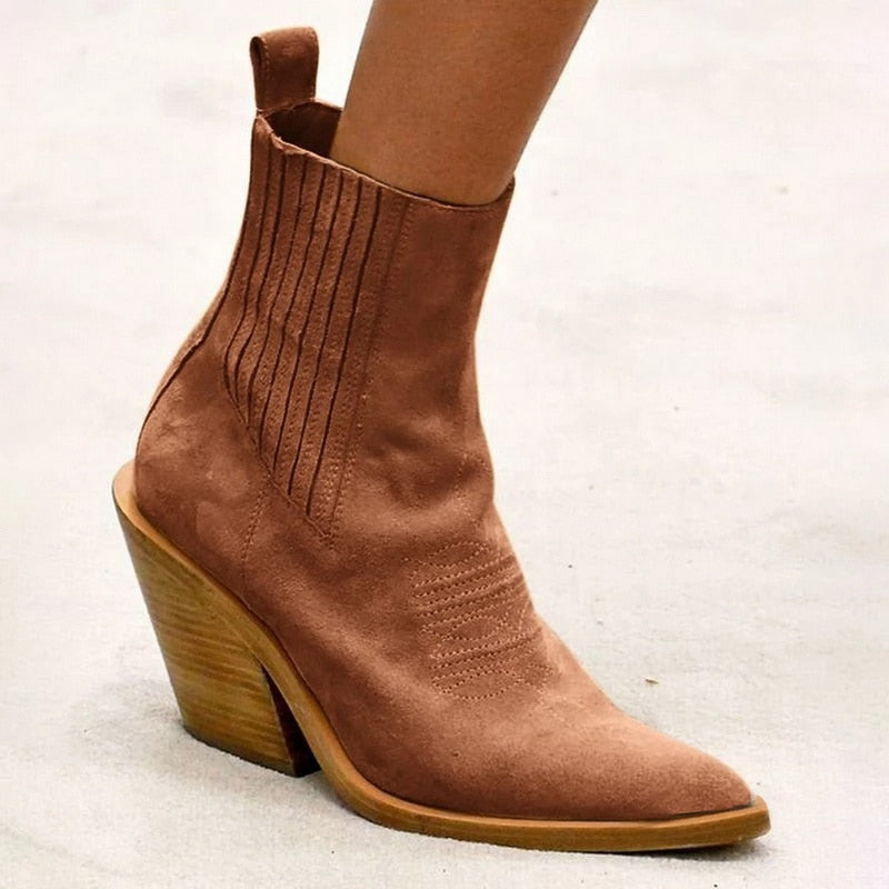 Puimentiua Women Boots Ankle boots Women Botas Shoes Leather Shoes For Winter Boot Shoes Woman Casual  Female Ankle Ladies